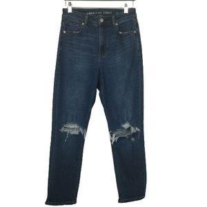 American Eagle Mom Jeans in Medium Indigo Wash